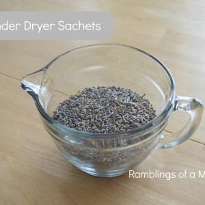 Thrifty Thursday – DIY Dryer Sachets