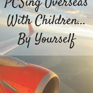 PCSing Overseas With Children…By Yourself