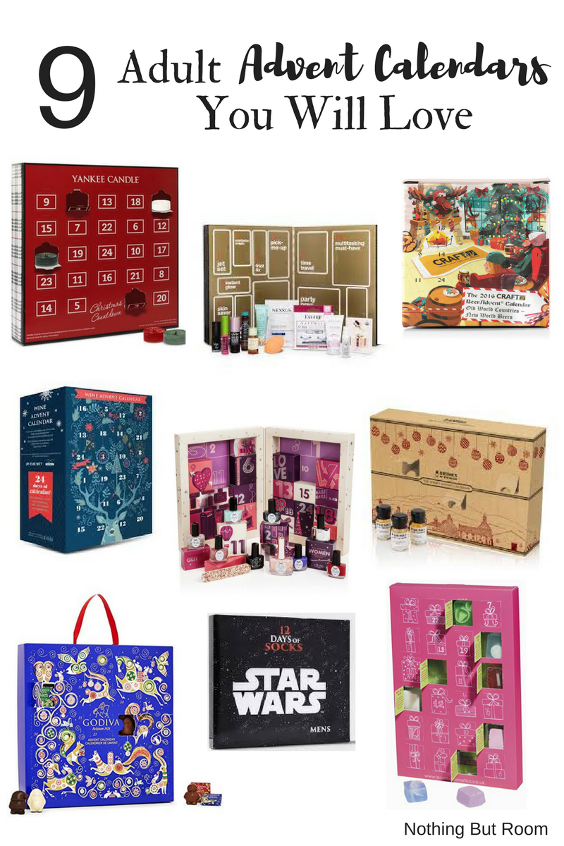 9 adult advent calendars you will love nothing but room. Black Bedroom Furniture Sets. Home Design Ideas