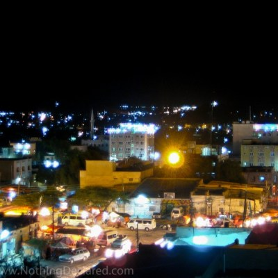Hargeisa, Somalia at night