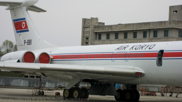 Brandon Cox - American arriving on Air Koryo in Pyongyang airport