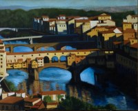 Above the Arno/ Egg Tempera/ (c) A. belov: Private coll.
