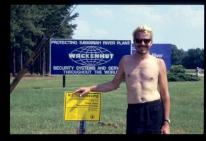 John Penley self portrait Savannah River Plutonium Bomb Pant 1989