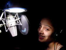 Chloe Fernandez on the mic