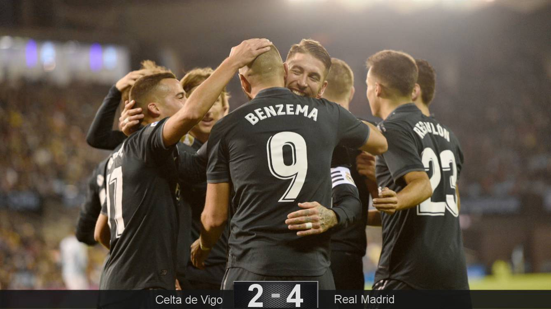 El Real Madrid ganó y se colocó a 4 puntos del Barcelona