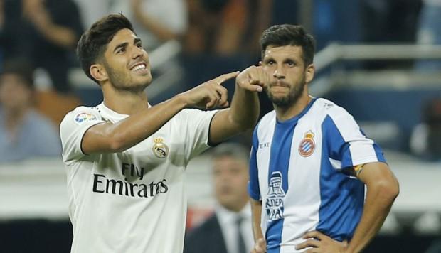 Asensio dejó al Real Madrid (provisionalmente) puntero de la Liga Española