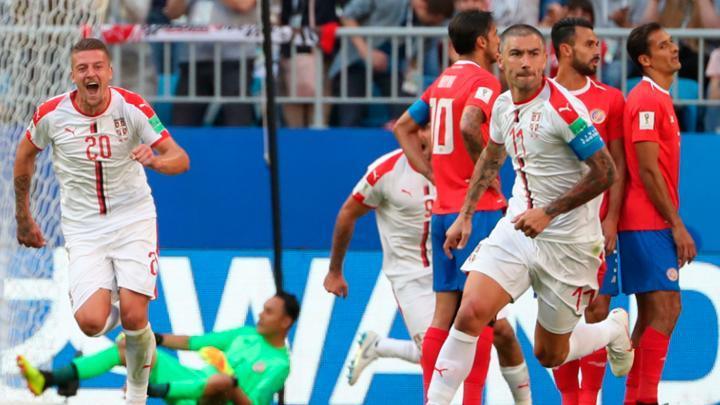 Serbia sorprendió y se impuso 1-0 a Costa Rica