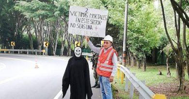 La creativa campaña de prevención de Nuevo Cauca en la vía Popayán-Santander de Quilichao