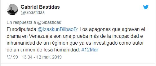Unión Europea responsabiliza a Maduro de apagón masivo en Venezuela