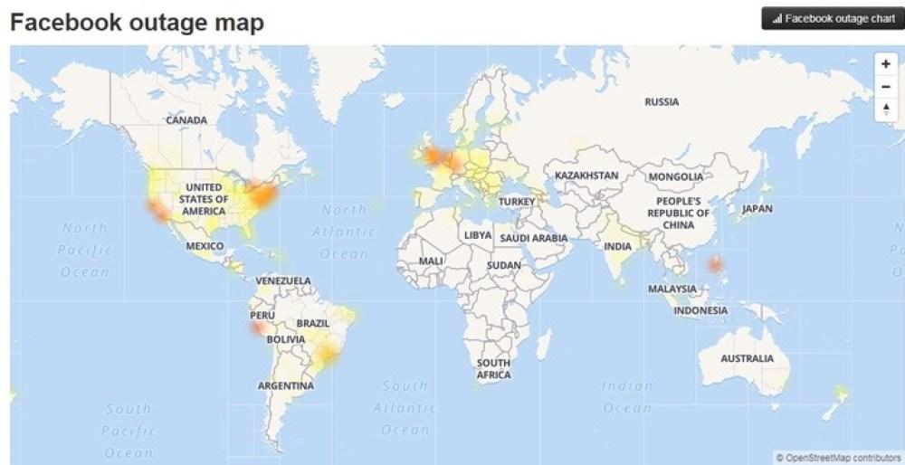 Facebook, Instagram y WhatsApp registran fallas en todo el mundo