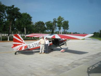 Este es el avión Decatlón matrícula YS175P dónde murieron Fred Cabanas y El Chori en Cozumel. Vía  @humberto_gasca.