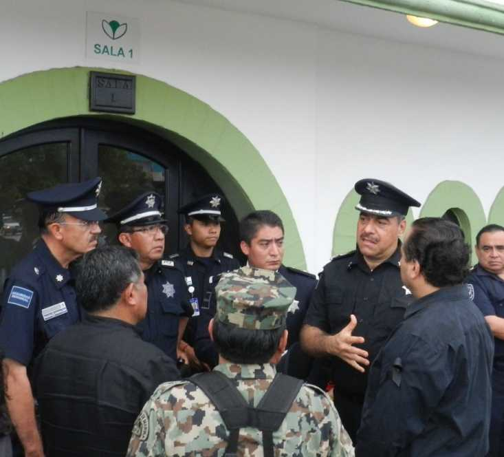 15velorioCapitan Cortez, Virgilio Morales, Policia Federal,Jesus Aiza, Julian Ricalde.