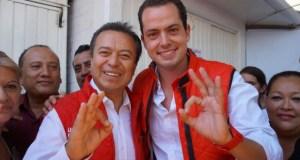 Camacho Quiroz con Paul Ospital.