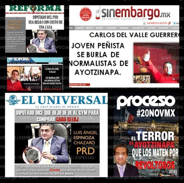 Portadas falsas para difamar a políticos enemigos, en este caso, de Adrián Rubalcava.
