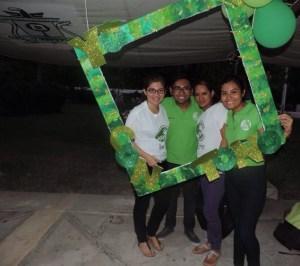 ACTITUDES PORRILLES. Antonio Tzuc, candidato de la planilla verde a la presidencia del Comité del Colegio de Estudiantes (Coles) de la Uqroo.