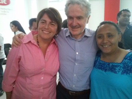 Laura Berinstain, Santiago Creel y Cristina Torres