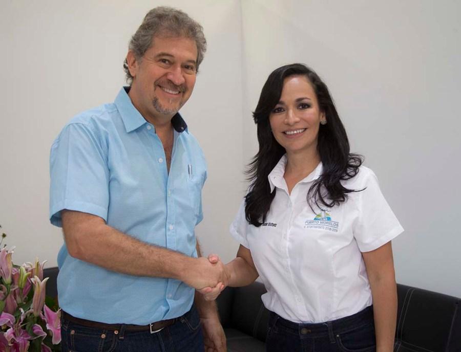 La alcaldesa Laura Fernández y Alfredo Arellano, titular de SEMA.