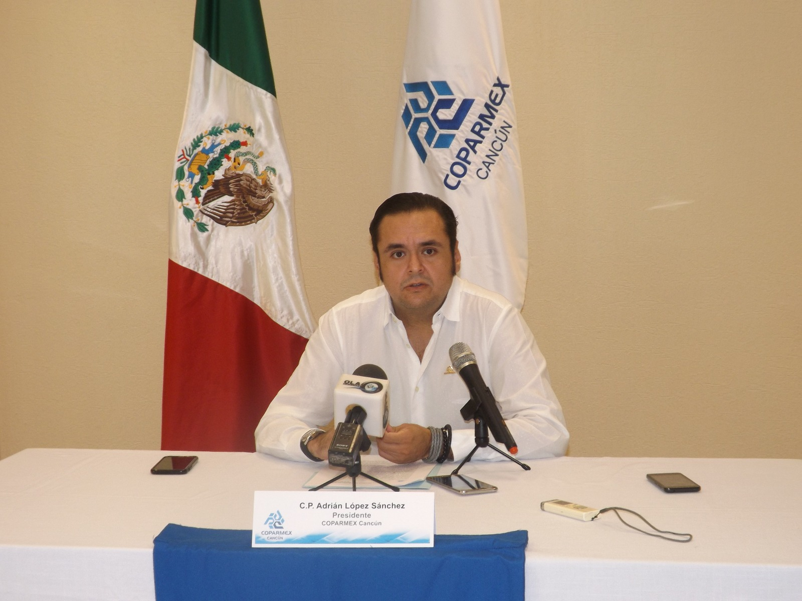 Adrián López Sánchez presidente de la Coparmex en Quintana Roo