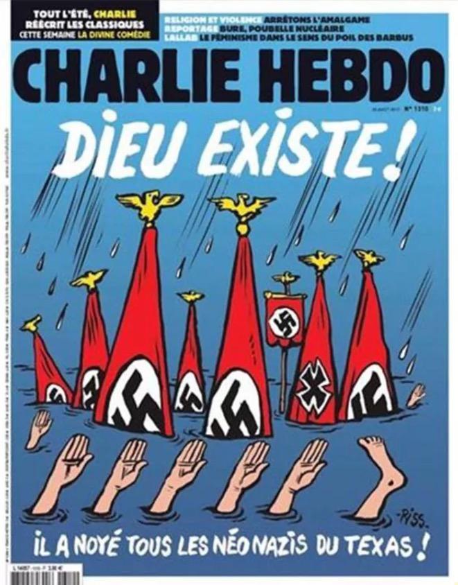 Fuertes críticas a Charlie Hebdo por portada sobre inundaciones en Texas