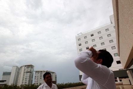 Clima no deja apreciar el Eclipse en Quintana Roo
