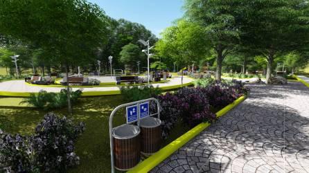 Gráfica 3, aspecto cómo quedará el parque