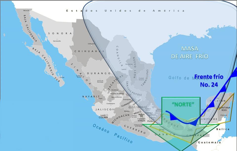 Lluvias y heladas en estos estados de México — Prevalece el frío