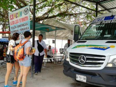 Incremento de tarifas en vans foráneas de Playa del Carmen no fue autorizado por el Instituto de Movilidad