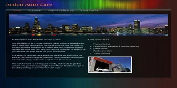 Colourful custom website design example   Noticedwebsites