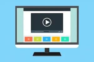 Business profile video script template   Video on computer screen