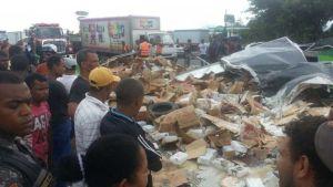 Tres muertos y dos heridos accidente Bonao