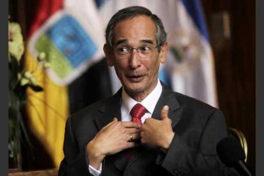 Colom, preso acusado de corrupción en Guatemala