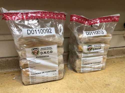 DNCD incauta en el AILA 23 paquetes de cocaína