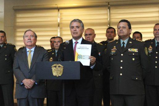 Presidente Ivan Duque presenta estrategia 'El que la hace la paga'