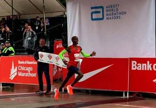 Mo Farah  y Brigid Kosgei ganan  maratón de Chicago 2018