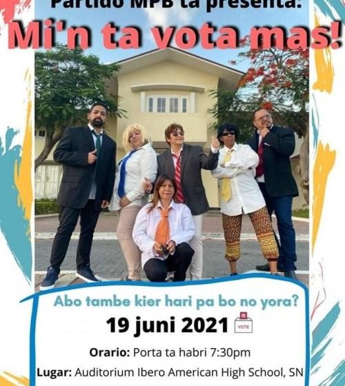 Movemento teatral ta tumando luga 'm'in ta vota mas!'