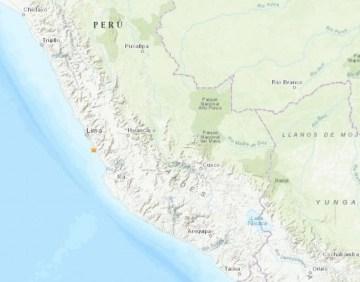 Temblor ta sacudi Peru