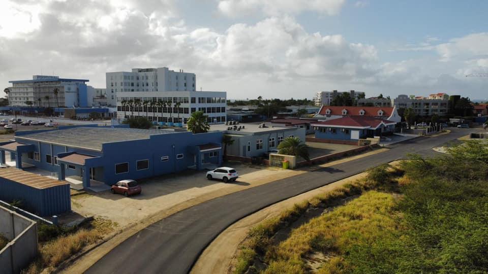 Trabajo de reparación en varias carreteras de Aruba