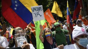 protesta de la covid-19 en venezuela