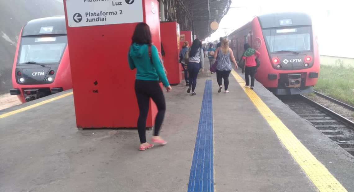obras de modernização Estação Francisco Morato Linha 7-Rubi