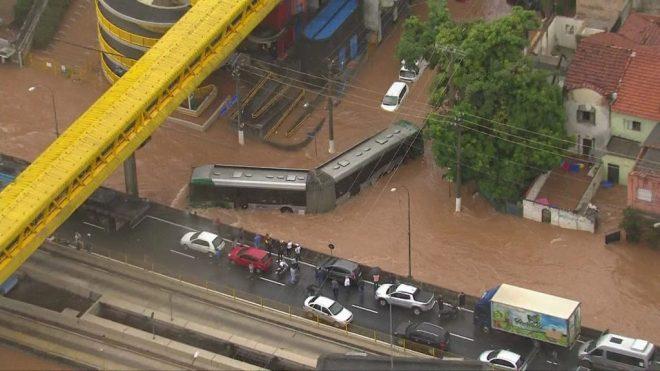 Ônibus ilhado