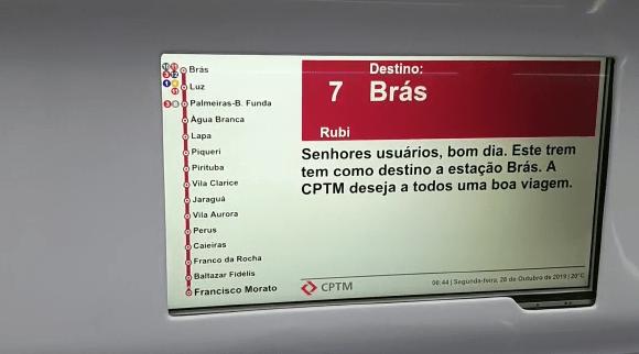 Linha 7 no Brás