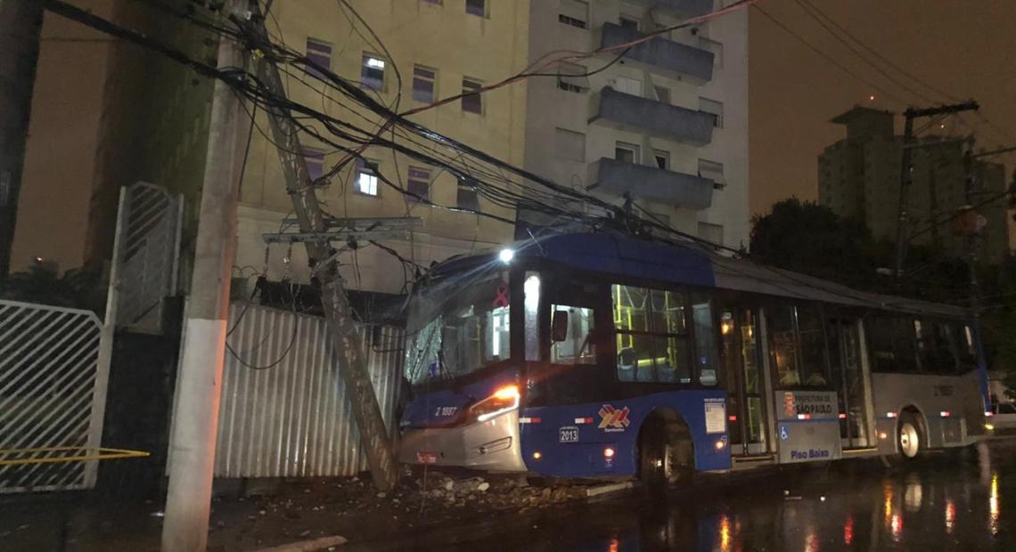 acidente com ônibus
