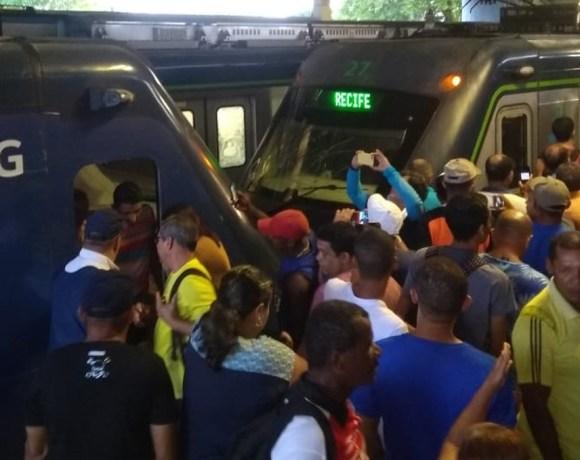 colisão no metrô de recife