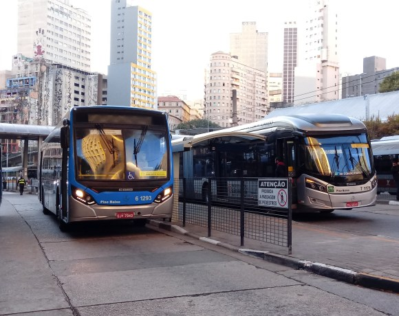 ônibus na cidade de São Paulo