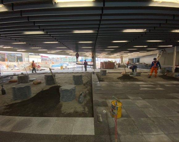 Obras da nova estação de Francisco Morato