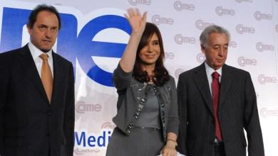 Scioli, Cristina Fernández y Osvaldo Cornide