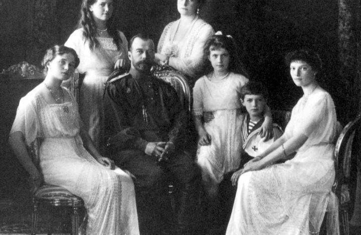 El Zar, Nicolás II junto a su familia
