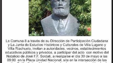 Photo of ACTO POR EL NATALICIO DE JOSÉ SOLDATI