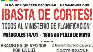 Photo of CONVOCATORIA A MARCHA EN PLAZA DE MAYO POR LOS CONTINUOS CORTES DE LUZ