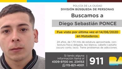 Photo of Búsqueda de Diego Sebastián Ponce
